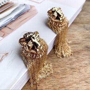 ASOS Tiger Tassel Earrings